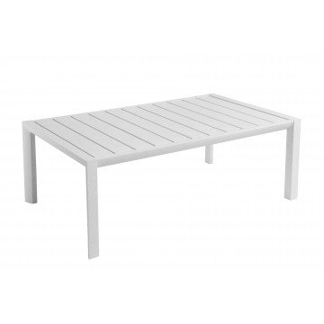 TABLE BASSE SUNSET 100X60 Aluminium Blanc Glacier