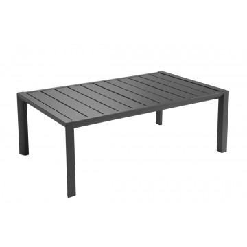 TABLE BASSE SUNSET 100X60 Aluminium Noir volcanique
