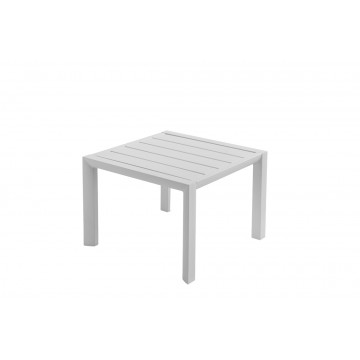 TABLE BASSE SUNSET 50X50 Aluminium Blanc