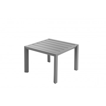 TABLE BASSE SUNSET 50X50 Aluminium Gris Platinium