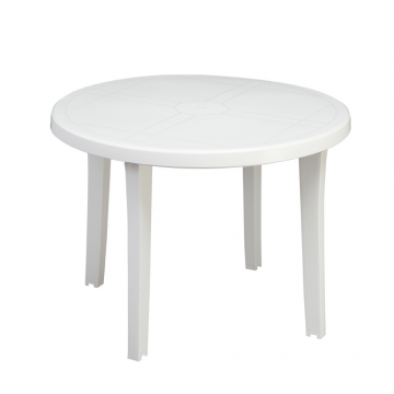Table MIAMI diamètre 98 blanc