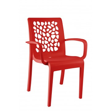 FAUTEUIL TULIPE rouge architectural