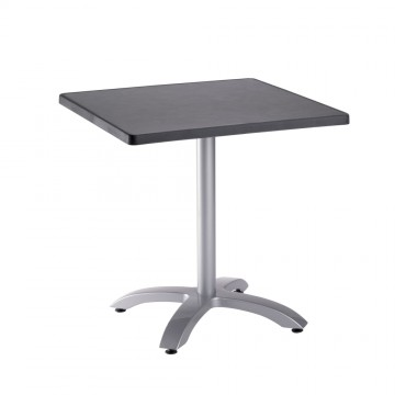 Table ECOFIX 70X70 Anthracite pied Aluminium