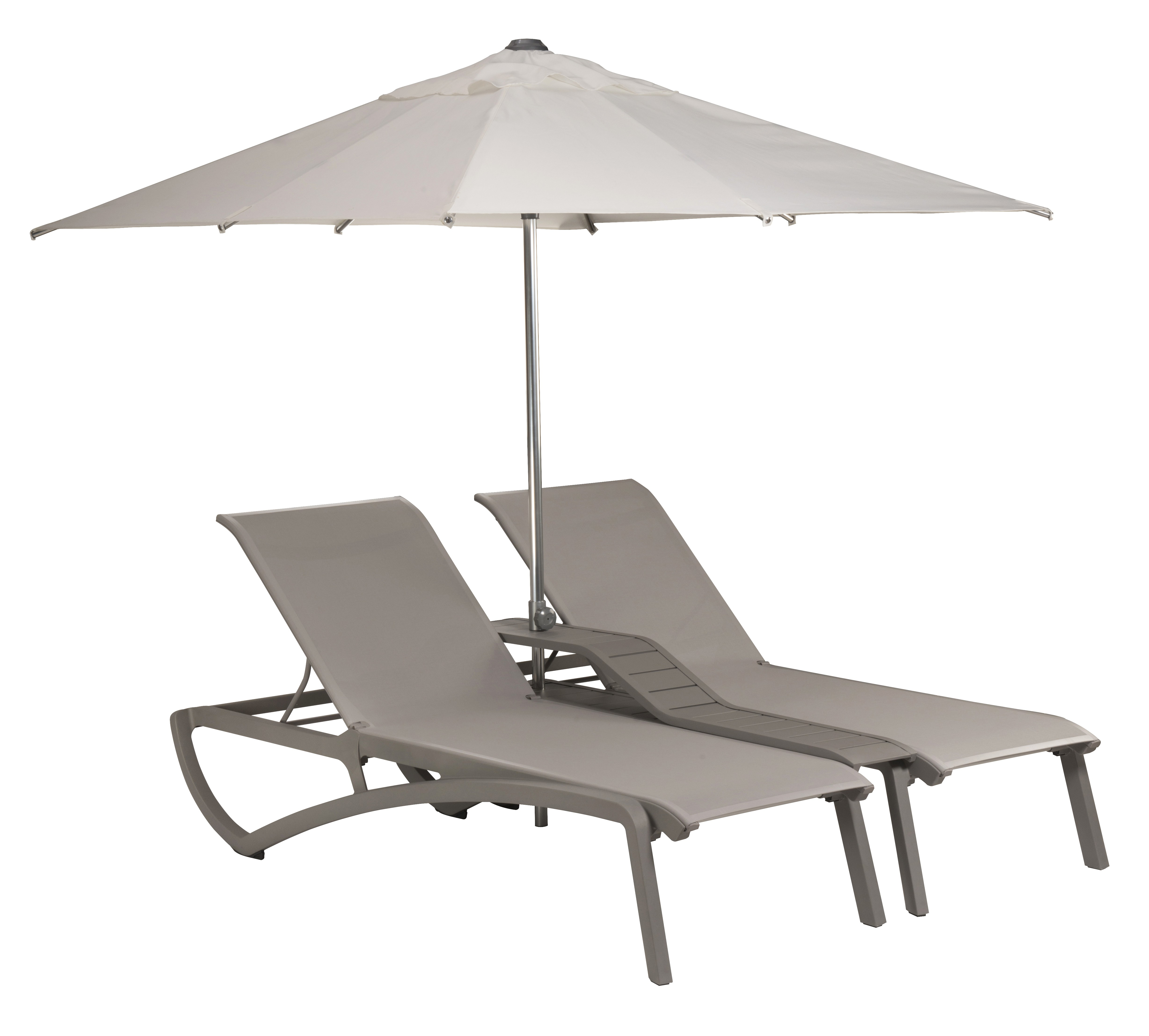 double bain de soleil sunset gris toile gris parasol. Black Bedroom Furniture Sets. Home Design Ideas