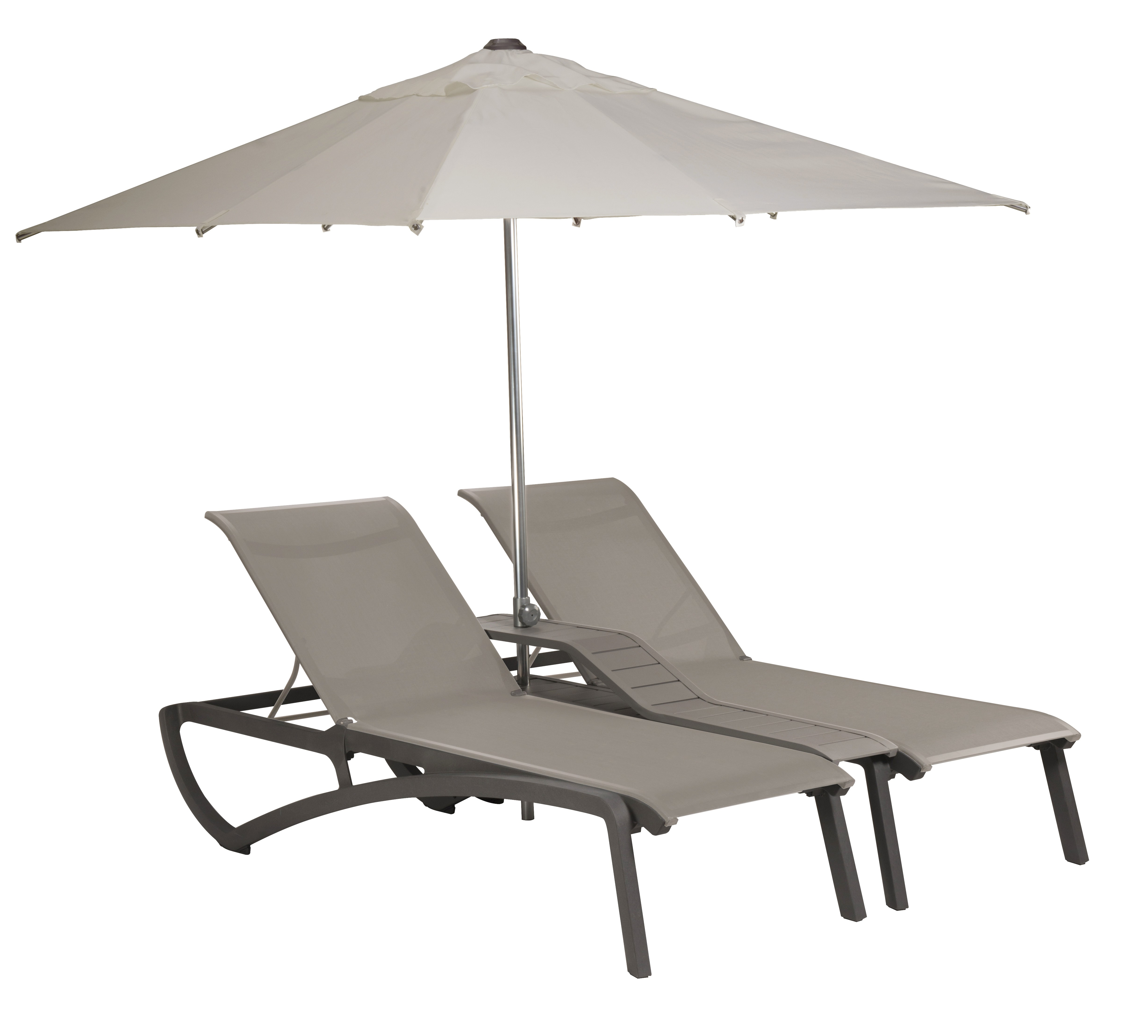 double bain de soleil sunset noir toile grise parasol. Black Bedroom Furniture Sets. Home Design Ideas