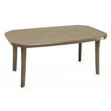 TABLE MIAMI 165X100 Taupe