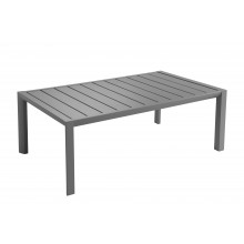 TABLE BASSE SUNSET 100X60 Aluminium Gris Platinium
