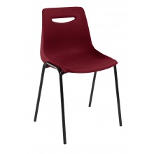 Chaise New Campus M2 empilable Acajou - pied noir